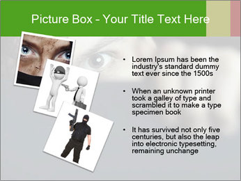 Man behind the black board PowerPoint Templates - Slide 17