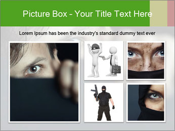 Man behind the black board PowerPoint Templates - Slide 19