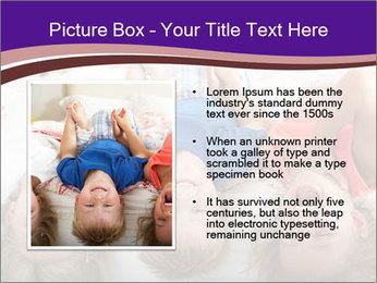 Children Down Bed PowerPoint Template - Slide 13