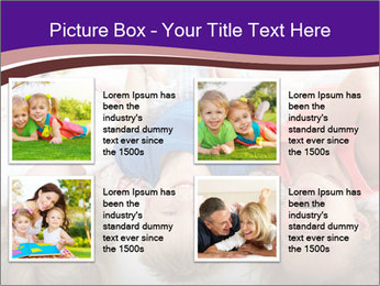 Children Down Bed PowerPoint Template - Slide 14