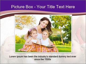 Children Down Bed PowerPoint Template - Slide 16