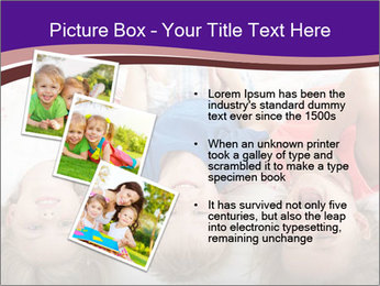 Children Down Bed PowerPoint Template - Slide 17
