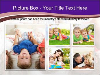 Children Down Bed PowerPoint Template - Slide 19