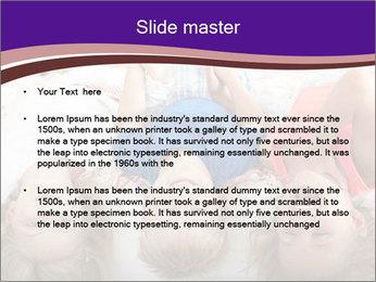 Children Down Bed PowerPoint Template - Slide 2