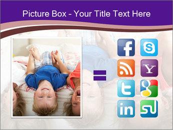 Children Down Bed PowerPoint Template - Slide 21