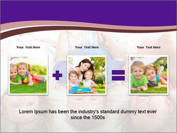 Children Down Bed PowerPoint Template - Slide 22