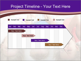 Children Down Bed PowerPoint Template - Slide 25