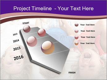 Children Down Bed PowerPoint Template - Slide 26