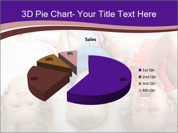 Children Down Bed PowerPoint Template - Slide 35