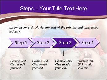 Children Down Bed PowerPoint Template - Slide 4
