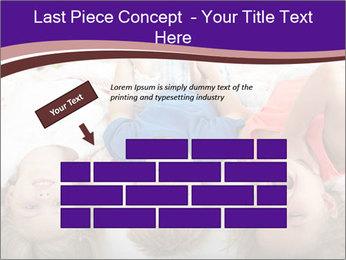 Children Down Bed PowerPoint Template - Slide 46