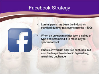 Children Down Bed PowerPoint Template - Slide 6