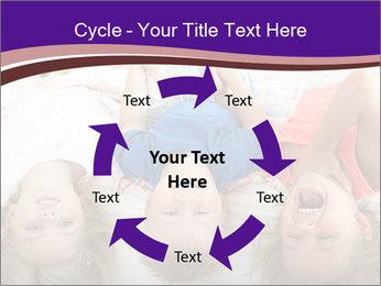 Children Down Bed PowerPoint Template - Slide 62