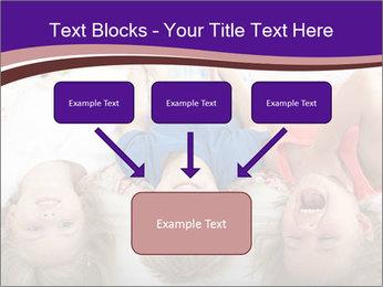 Children Down Bed PowerPoint Template - Slide 70