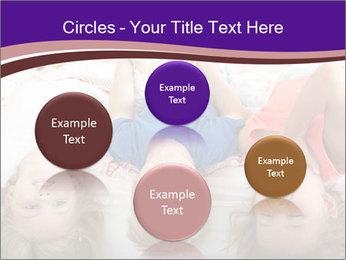 Children Down Bed PowerPoint Template - Slide 77