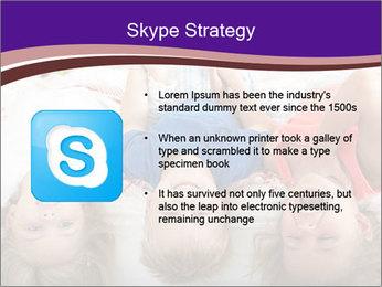 Children Down Bed PowerPoint Template - Slide 8