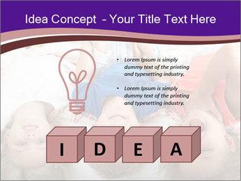 Children Down Bed PowerPoint Template - Slide 80