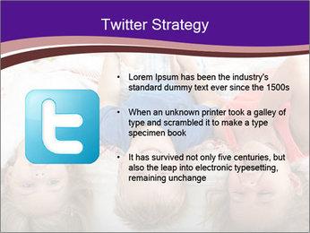 Children Down Bed PowerPoint Template - Slide 9