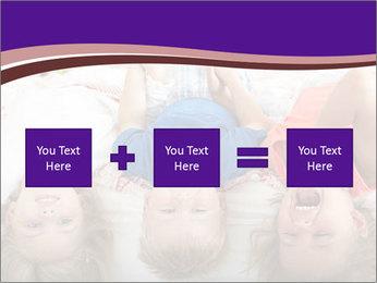 Children Down Bed PowerPoint Template - Slide 95