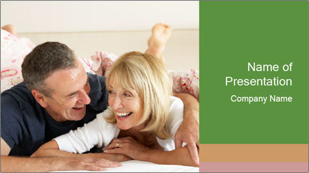 Couple Relaxing Together PowerPoint Template