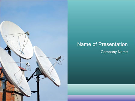 Satellite antennas PowerPoint Templates