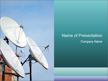 Satellite antennas PowerPoint Templates - Slide 1