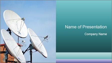 Satellite antennas PowerPoint Template