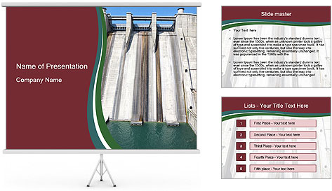 Small dam PowerPoint Template