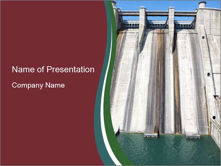 Small dam PowerPoint Templates