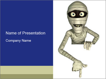 Mummy PowerPoint Templates - Slide 1