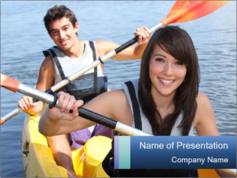 Kayak PowerPoint Template - Slide 1