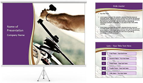 Sailor pulling rope PowerPoint Template