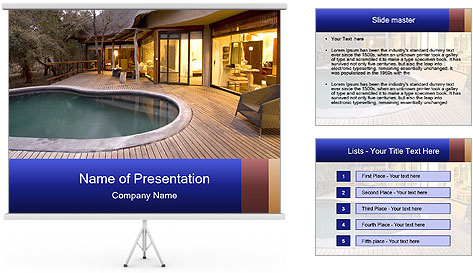 Swimming pool PowerPoint Template