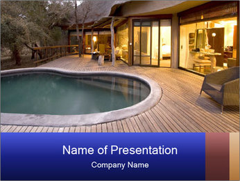 Swimming pool PowerPoint Template - Slide 1