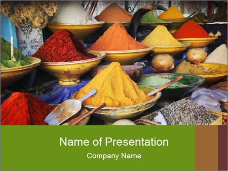 Spice market PowerPoint Templates