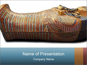 Tutankhamen's wooden sarcophagus PowerPoint Template - Slide 1