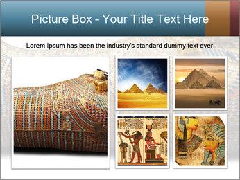 Tutankhamen's wooden sarcophagus PowerPoint Template - Slide 19