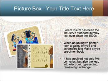 Tutankhamen's wooden sarcophagus PowerPoint Template - Slide 20