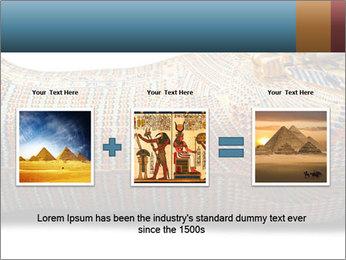 Tutankhamen's wooden sarcophagus PowerPoint Template - Slide 22