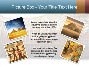 Tutankhamen's wooden sarcophagus PowerPoint Template - Slide 24