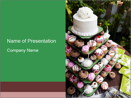 Gourmet cupcakes PowerPoint Template