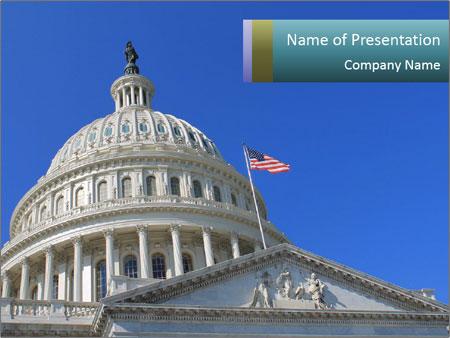 Us Capitol Building Powerpoint Template Backgrounds Google Slides