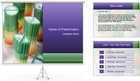 Decorative candle PowerPoint Template