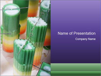 Decorative candle PowerPoint Template - Slide 1