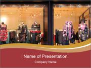 Boutique window PowerPoint Template