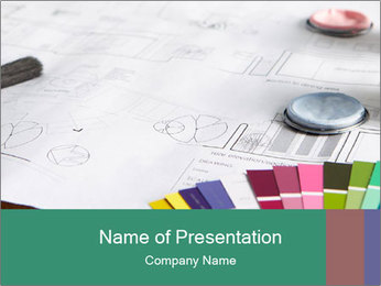 Decorating tools PowerPoint Template - Slide 1