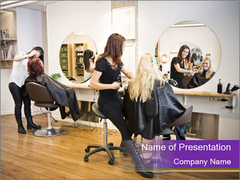 Hair salon PowerPoint Template - Slide 1