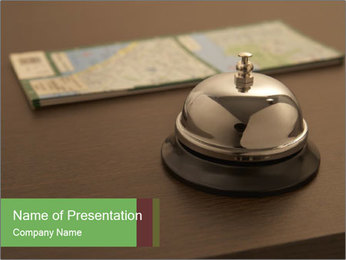 Hotel bell PowerPoint Template - Slide 1