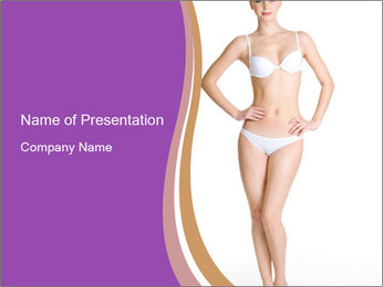 Female applying PowerPoint Template