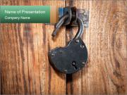 Old padlock PowerPoint Templates